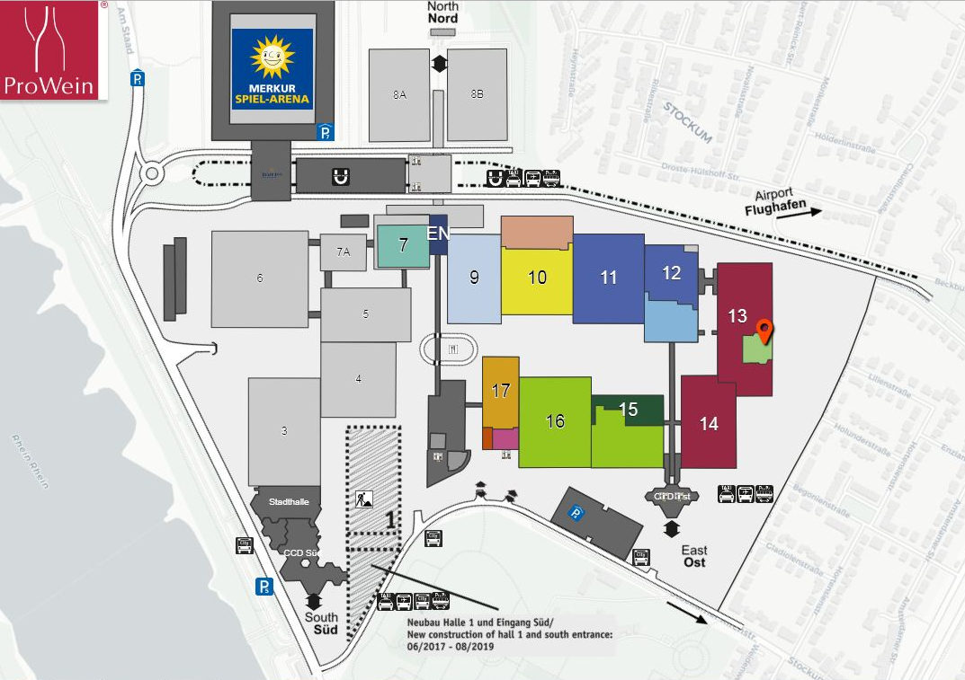Prowein 2019 Hall Map